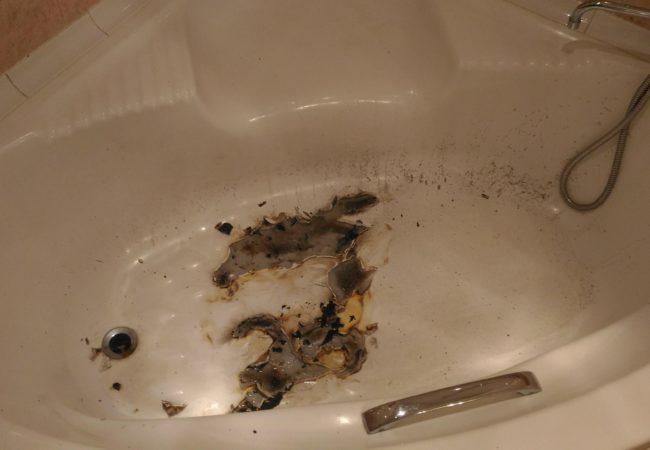 Ремонт ванны после пожара