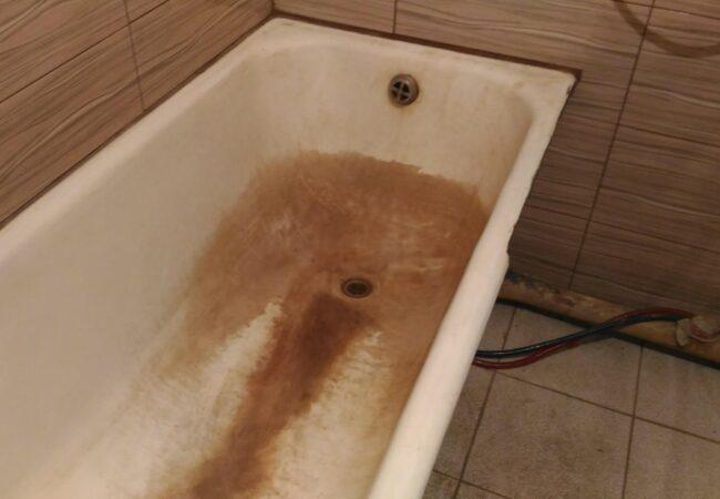 ванна чугунная до реставрации