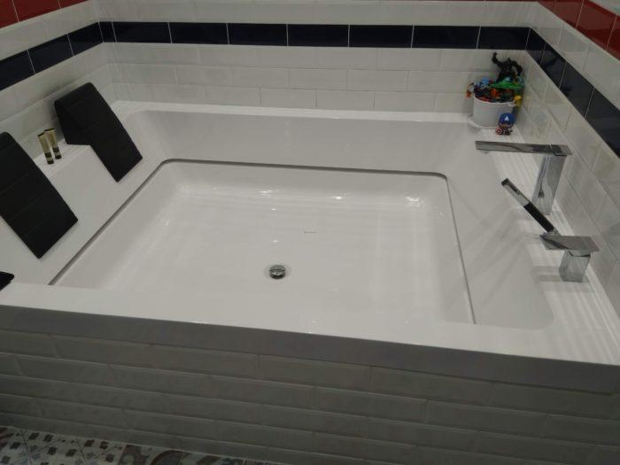 Ремонт трещин и сколов на ваннах из искусственного камня