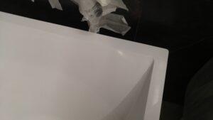 Ремонт трещины на ванне из керамогранита