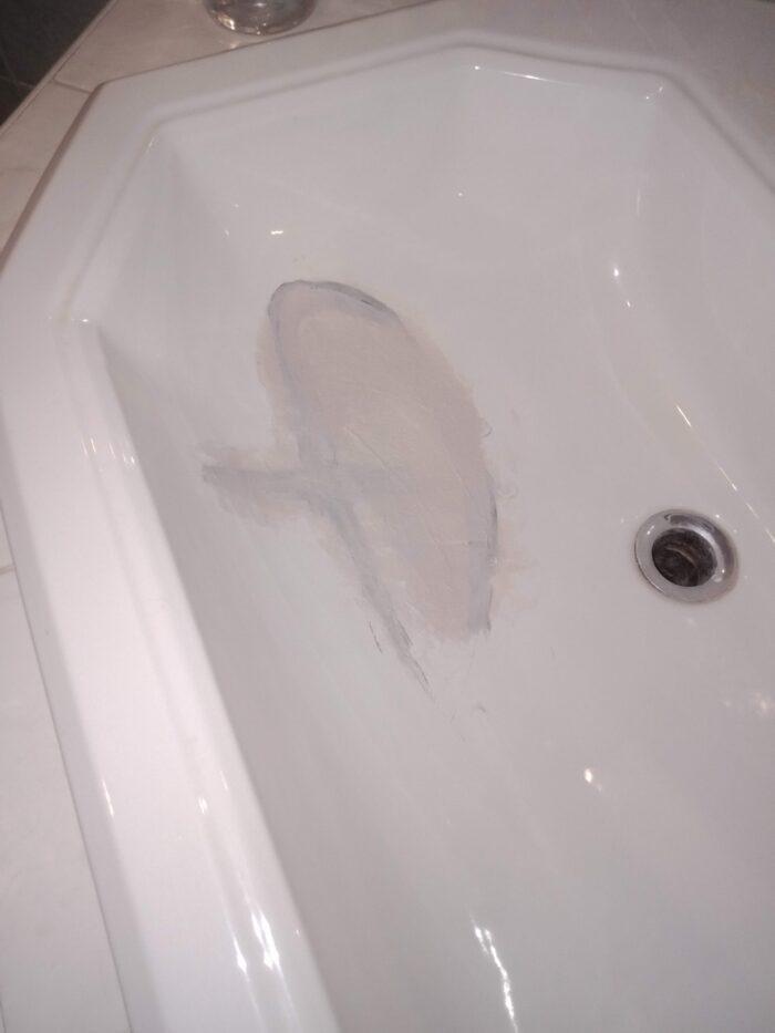 Повреждение на раковине обработано керамитом (США)