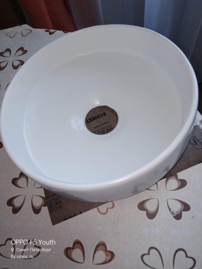 Восстановление керамической плевательницы белой глазурью